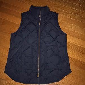 Navy quilted J Crew vest